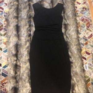 Body con midi black dress